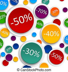 Discounts Colorful 3d board - Graphic illustration