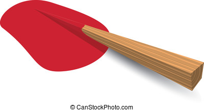 Wooden Stake - Isolated illustration eps 10 Wooden stake...