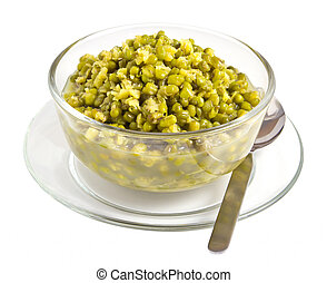 Mung bean isolated on white background