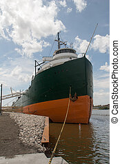 Freighter - A view of the bow of a Great Lakes freighter