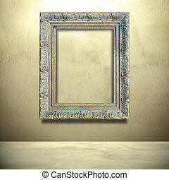 Classic frame with concrete wall