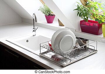 kitchen sink still life - modern kitchen sink still life