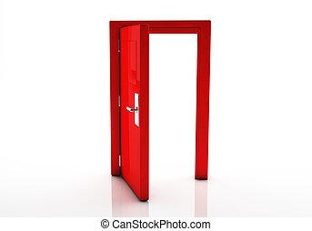 3, ajtó, Nyílik