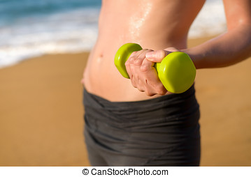 Fitness and working out on summer