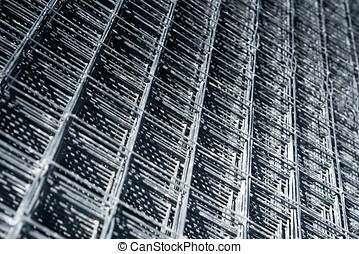Steel reinforcing rods - Background texture of steel...