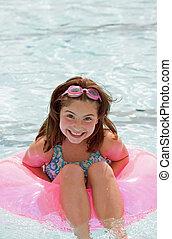 Little Girl Having Fun Swimming