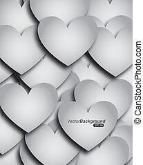 heart desig - heart deign over monochrome background vector...