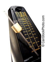metronome - closeup musical metronome, musical time keeping