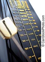 metronome - closeup musical metronome, musical time keeping