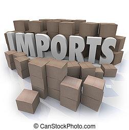Imports Cardboard Boxes International Trade Warehouse - The...