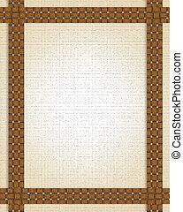 Basket weave frame or border - Basket weave frame...
