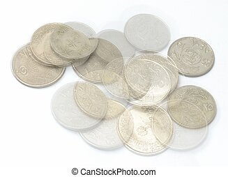 Saudi Metal coins and transparent coins Currency metal...