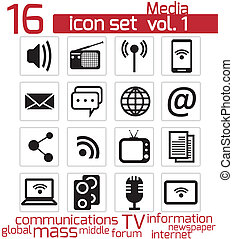 Communication and media icon