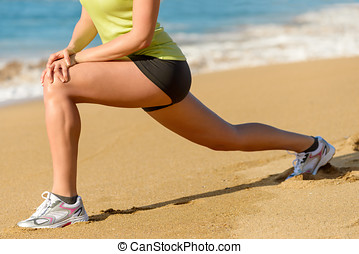 Sport and stretching concept on summer - Sport concept Woman...