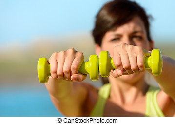 Fitness on summer concept