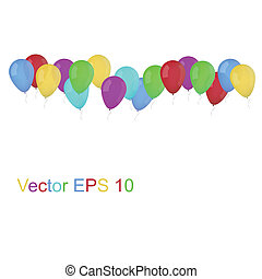 party balloons isolated on white