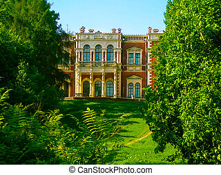 Palace in park