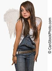 adolescente, anjo