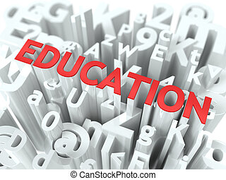Education. The Wordcloud Medical Concept.