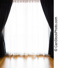 curtain with a copy-space in the middle