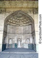 Alcove in palace in fortress Arg-e Karim Khan in Shiraz,...