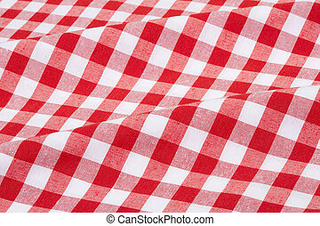 Red and white tablecloth - Red and white gingham tablecloth...