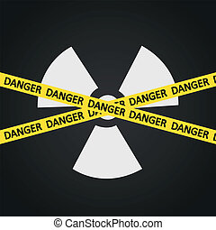 Vector illustration tape radiation hazard