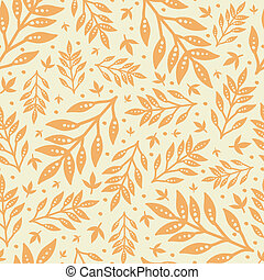 Golden leaves seamless pattern background