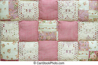 Upholstery fabrics lace and chintz background texture