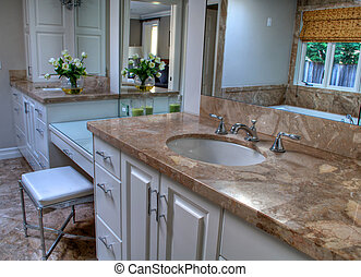 Pretty Bathroom Neutral Colors - This is a pretty and...
