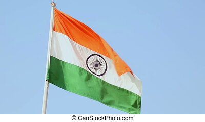 Flag of India - Indian flag fluttering in the wind.