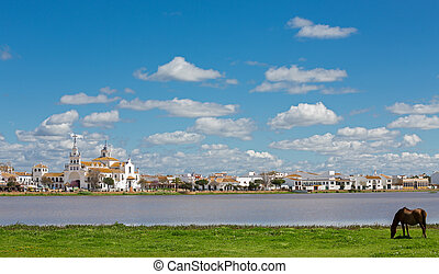 El Rocio - View of El Rocio, Andalucia, Spain