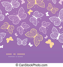 Night butterflies horizontal seamless pattern background...