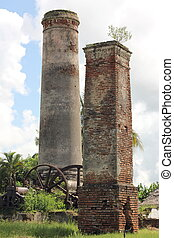 Sugar Mill Ruins - Ruins of an old sugar mill in Cuba