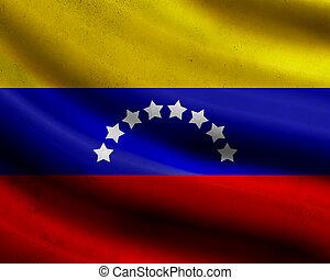 Grunge Venezuela flag