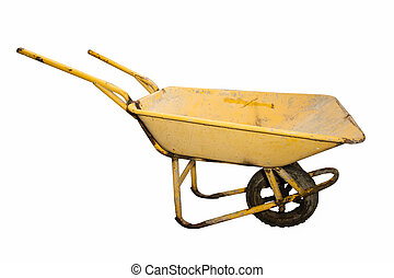 Cement carts - Trolley for Construction in white background