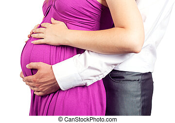 young pregnant couple