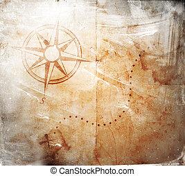 old treasure map - Old treasure map