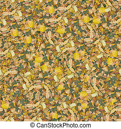 Dry leaves seamless composable pattern - Seamless pattern...