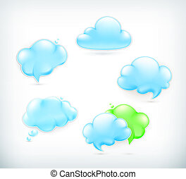Clouds, vector