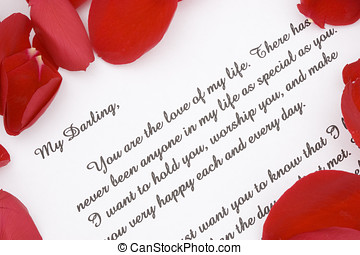 Romantic love letter. - A romantic love letter for...