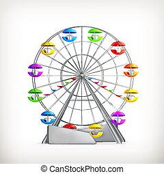 Ferris wheel, vector