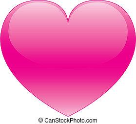 Pink Heart - vector