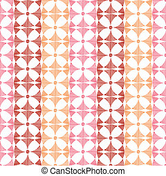 Geometric red ikat stripes seamless pattern background -...