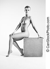 Young naked woman
