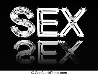 """quadro, imagem, palavra, """"Sex"""""""