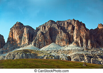 Dolomites mountains - High mountains in Dolomites Italy