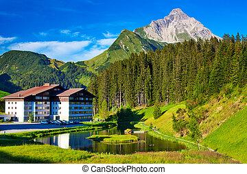 Alps summer landscape