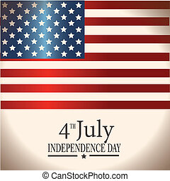 fourth july flag - fourth july over flag background vector...