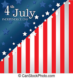 fourth july flag - fourth july over flag bacgrond vector...